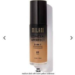 MILANI conceal and perfect foundation in 09 TAN